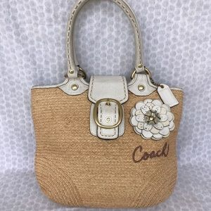 Coach BLEEKER straw tote